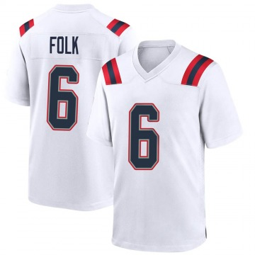 Youth Nike New England Patriots Nick Folk White Jersey - Game
