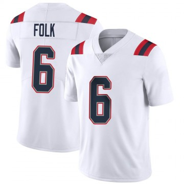 Youth Nike New England Patriots Nick Folk White Vapor Untouchable Jersey - Limited