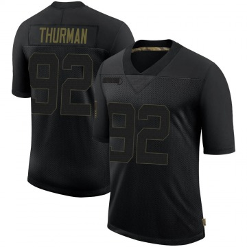 Youth Nike New England Patriots Nick Thurman Black 2020 Salute To Service Jersey - Limited