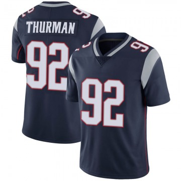 Youth Nike New England Patriots Nick Thurman Navy 100th Vapor Jersey - Limited