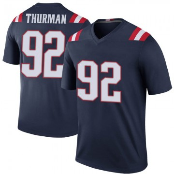Youth Nike New England Patriots Nick Thurman Navy Color Rush Jersey - Legend