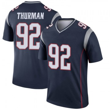 Youth Nike New England Patriots Nick Thurman Navy Jersey - Legend