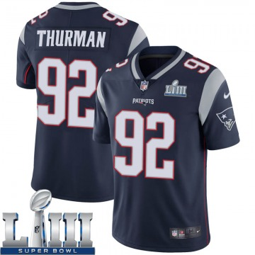 Youth Nike New England Patriots Nick Thurman Navy Team Color Super Bowl LIII Vapor Untouchable Jersey - Limited