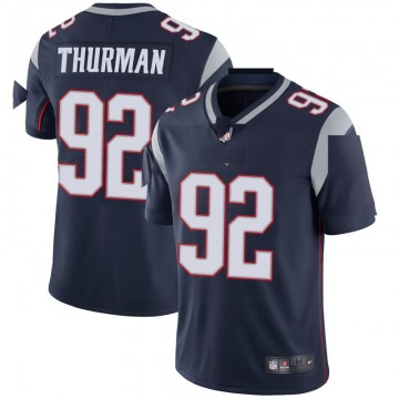 Youth Nike New England Patriots Nick Thurman Navy Team Color Vapor Untouchable Jersey - Limited