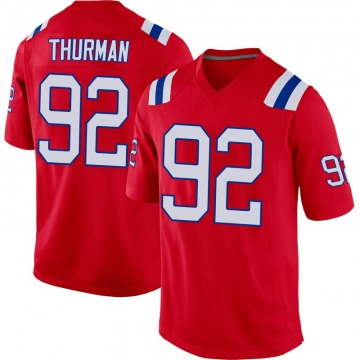 Youth Nike New England Patriots Nick Thurman Red Alternate Jersey - Game