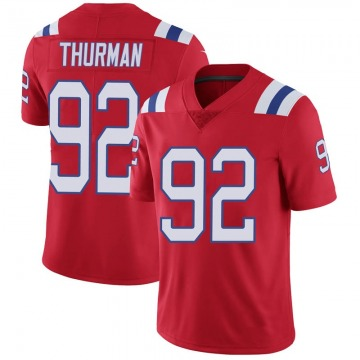 Youth Nike New England Patriots Nick Thurman Red Vapor Untouchable Alternate Jersey - Limited