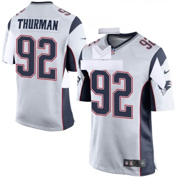Youth Nike New England Patriots Nick Thurman White Jersey - Game