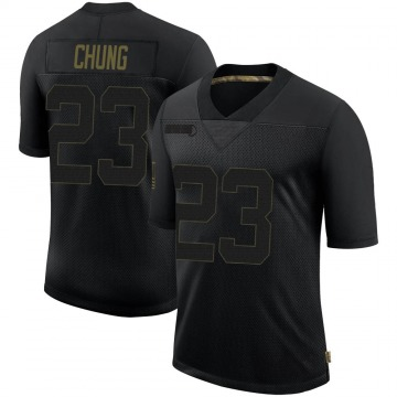 Youth Nike New England Patriots Patrick Chung Black 2020 Salute To Service Jersey - Limited