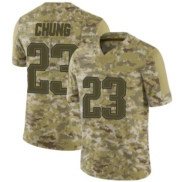 Youth Nike New England Patriots Patrick Chung Camo 2018 Salute to Service Jersey - Limited