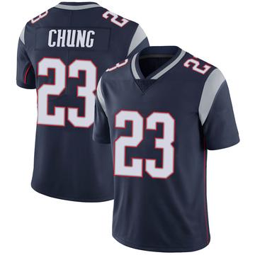 Youth Nike New England Patriots Patrick Chung Navy 100th Vapor Jersey - Limited