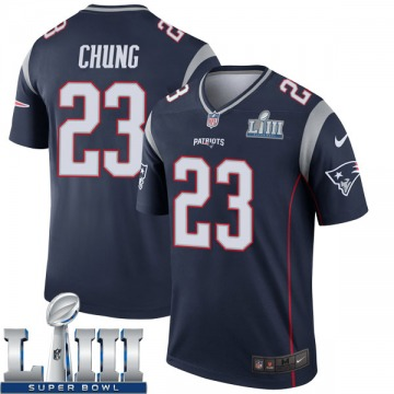 Youth Nike New England Patriots Patrick Chung Navy Super Bowl LIII Jersey - Legend