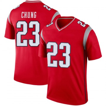 Youth Nike New England Patriots Patrick Chung Red Inverted Jersey - Legend