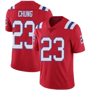 Youth Nike New England Patriots Patrick Chung Red Vapor Untouchable Alternate Jersey - Limited