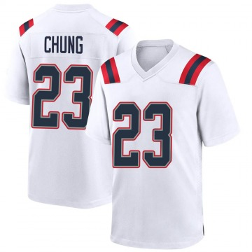 Youth Nike New England Patriots Patrick Chung White Jersey - Game