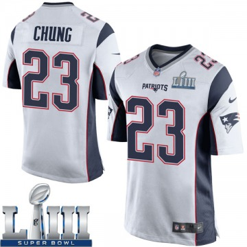 Youth Nike New England Patriots Patrick Chung White Super Bowl LIII Jersey - Game