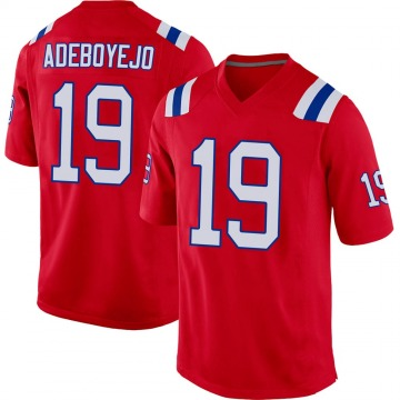 Youth Nike New England Patriots Quincy Adeboyejo Red Alternate Jersey - Game