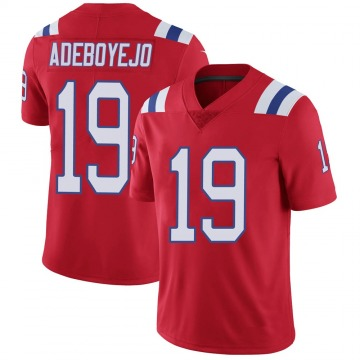 Youth Nike New England Patriots Quincy Adeboyejo Red Vapor Untouchable Alternate Jersey - Limited