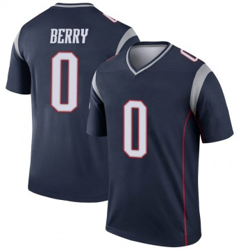 Youth Nike New England Patriots Rashod Berry Navy Jersey - Legend