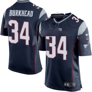 Youth Nike New England Patriots Rex Burkhead Navy Blue Team Color Jersey - Game