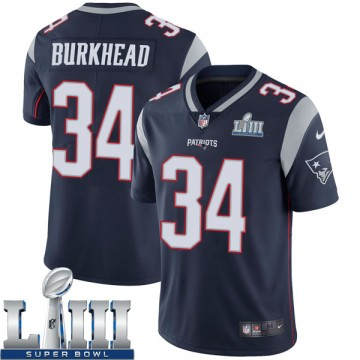Youth Nike New England Patriots Rex Burkhead Navy Team Color Super Bowl LIII Vapor Untouchable Jersey - Limited