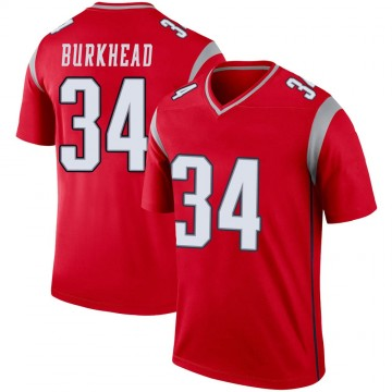 Youth Nike New England Patriots Rex Burkhead Red Inverted Jersey - Legend
