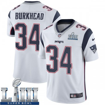 Youth Nike New England Patriots Rex Burkhead White Super Bowl LIII Vapor Untouchable Jersey - Limited