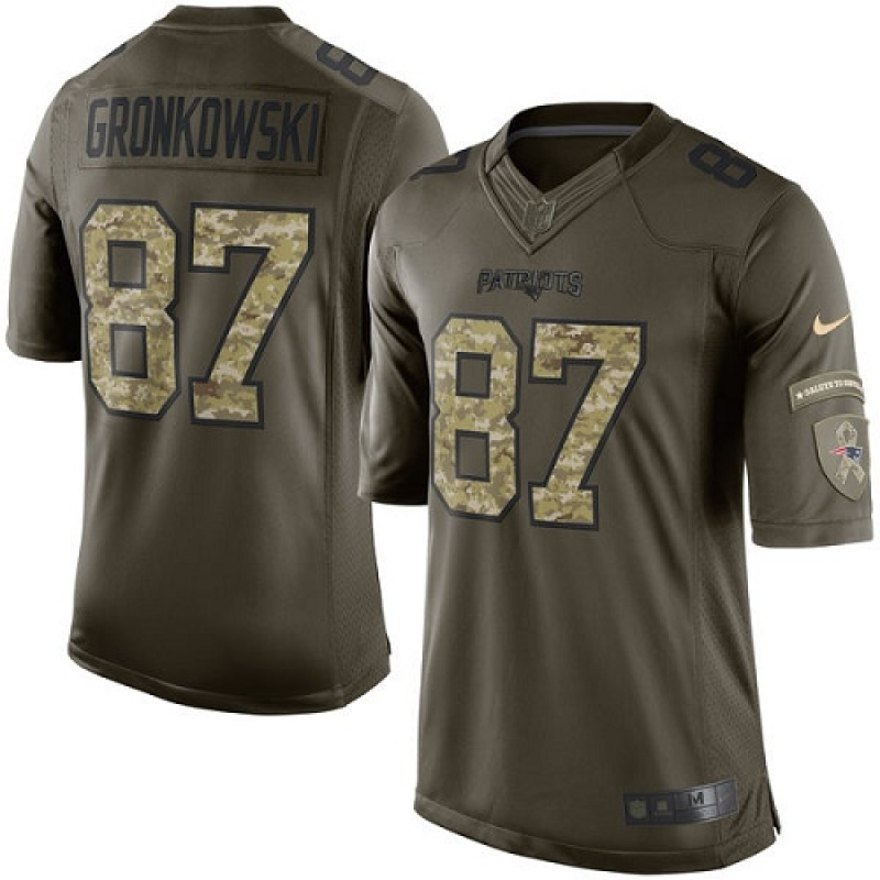 purchase cheap 06832 64f95 Youth Nike New England Patriots Rob Gronkowski Green Salute to Service  Jersey - Limited
