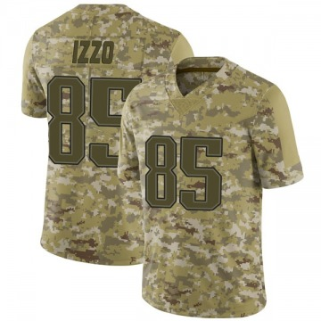 Youth Nike New England Patriots Ryan Izzo Camo 2018 Salute to Service Jersey - Limited