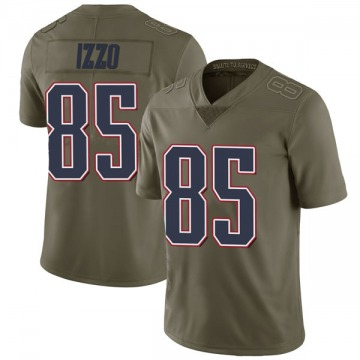 Youth Nike New England Patriots Ryan Izzo Green 2017 Salute to Service Jersey - Limited