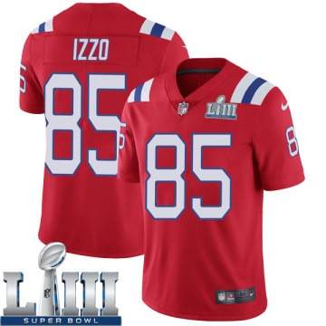 Youth Nike New England Patriots Ryan Izzo Red Super Bowl LIII Vapor Untouchable Alternate Jersey - Limited