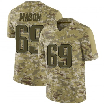 Youth Nike New England Patriots Shaq Mason Camo 2018 Salute to Service Jersey - Limited
