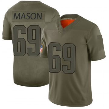Youth Nike New England Patriots Shaq Mason Camo 2019 Salute to Service Jersey - Limited