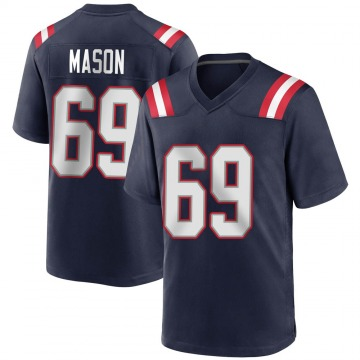 Youth Nike New England Patriots Shaq Mason Navy Blue Team Color Jersey - Game
