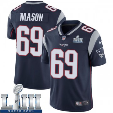 Youth Nike New England Patriots Shaq Mason Navy Team Color Super Bowl LIII Vapor Untouchable Jersey - Limited