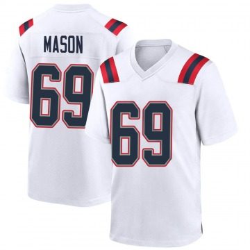 Youth Nike New England Patriots Shaq Mason White Jersey - Game