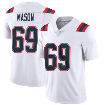 Youth Nike New England Patriots Shaq Mason White Vapor Untouchable Jersey - Limited