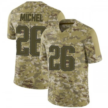 Youth Nike New England Patriots Sony Michel Camo 2018 Salute to Service Jersey - Limited