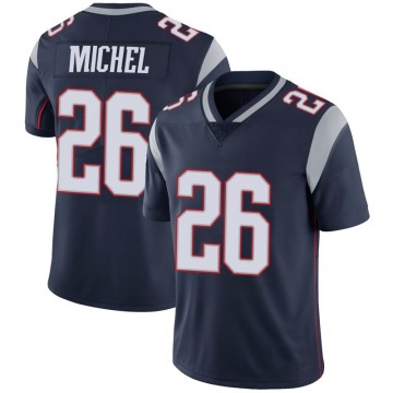 Youth Nike New England Patriots Sony Michel Navy 100th Vapor Jersey - Limited