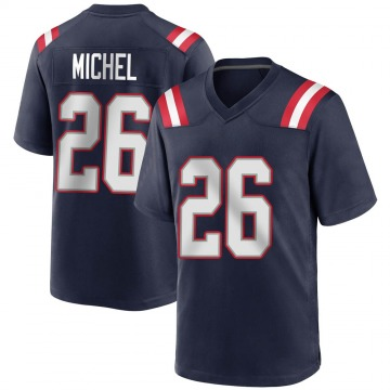 Youth Nike New England Patriots Sony Michel Navy Blue Team Color Jersey - Game