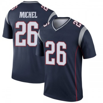Youth Nike New England Patriots Sony Michel Navy Jersey - Legend