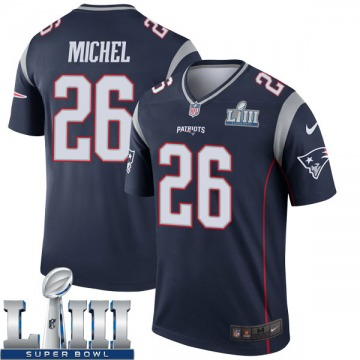 Youth Nike New England Patriots Sony Michel Navy Super Bowl LIII Jersey - Legend