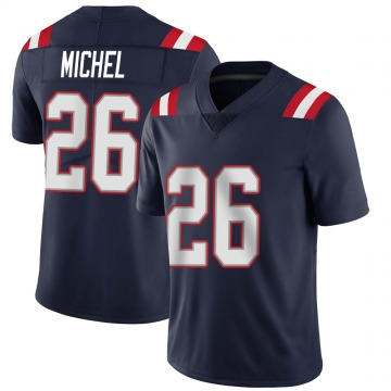 Youth Nike New England Patriots Sony Michel Navy Team Color Vapor Untouchable Jersey - Limited