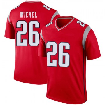 Youth Nike New England Patriots Sony Michel Red Inverted Jersey - Legend