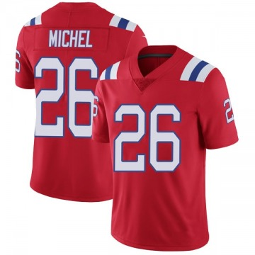 Youth Nike New England Patriots Sony Michel Red Vapor Untouchable Alternate Jersey - Limited
