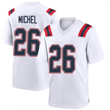 Youth Nike New England Patriots Sony Michel White Jersey - Game