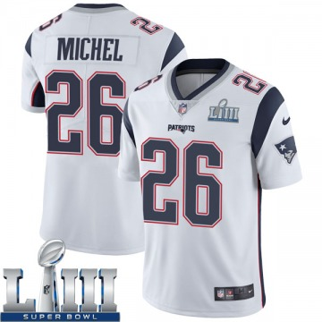 Youth Nike New England Patriots Sony Michel White Super Bowl LIII Vapor Untouchable Jersey - Limited