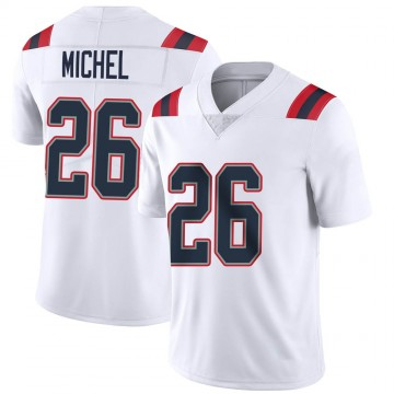 Youth Nike New England Patriots Sony Michel White Vapor Untouchable Jersey - Limited