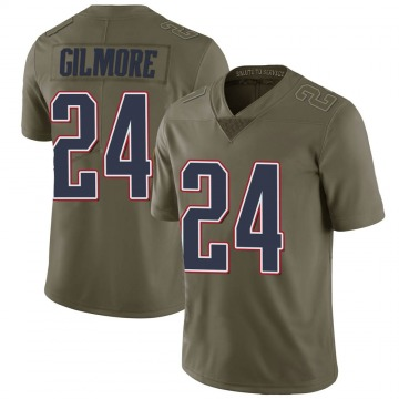 Youth Nike New England Patriots Stephon Gilmore Green 2017 Salute to Service Jersey - Limited