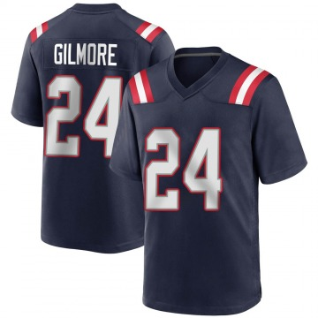 Youth Nike New England Patriots Stephon Gilmore Navy Blue Team Color Jersey - Game