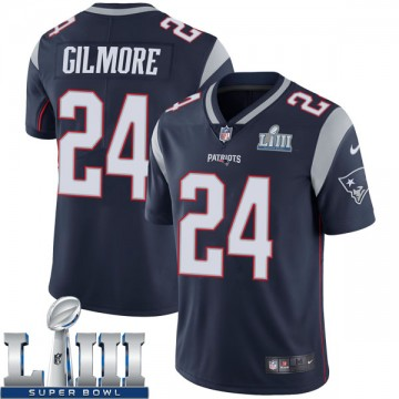 Youth Nike New England Patriots Stephon Gilmore Navy Team Color Super Bowl LIII Vapor Untouchable Jersey - Limited